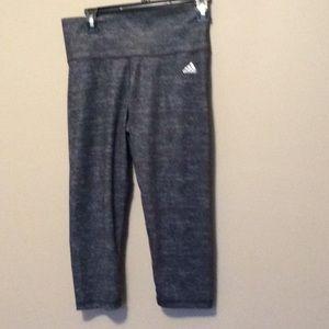 Woman's Adidas crop workout pants Medium